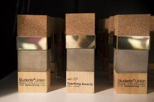 Trophies designed by Chin Chin Lam and Kajsa Lilja, BA Spatial Design. Image: SUArts