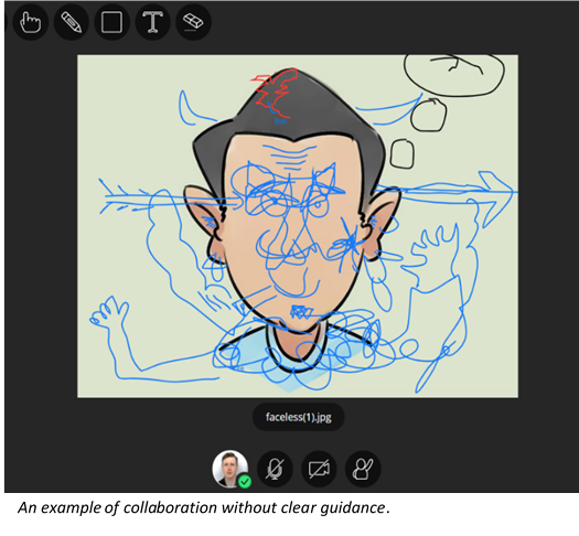 A screenshot of an illustration of a man with line drawings over it.