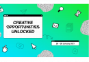 Green and blue background with various computer icons on it in black and white (mouse arrow, email envelope, padlock, eggtimer)